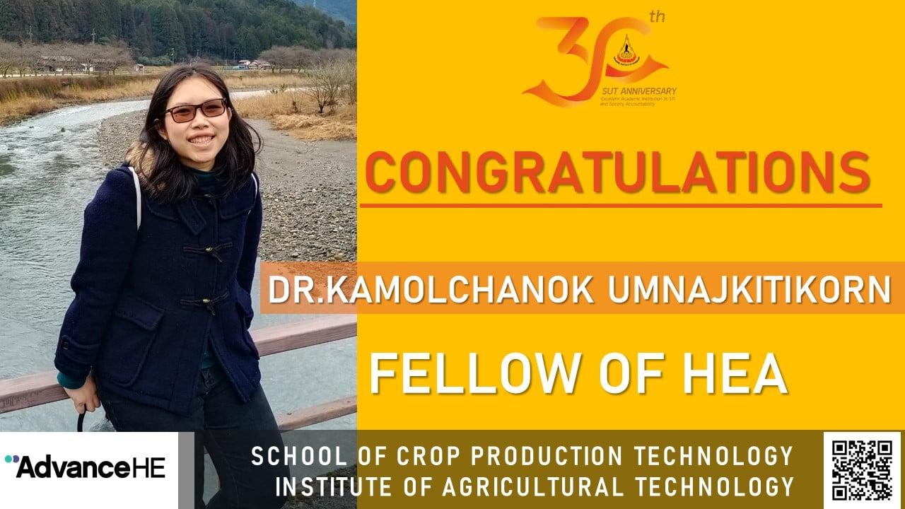อาจารย์ สำนักวิชาเทคโนโลยีการเกษตร UKPSF